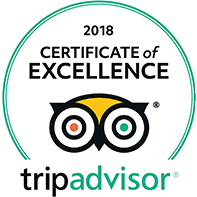Tripadvisor 2018 Certificate of Excllence Award